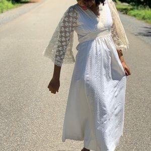Super 70's ivory long dress.